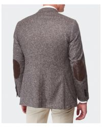 Jules B - Brown Silk Blend Tweed Jacket for Men - Lyst