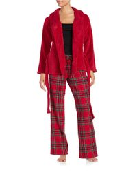 Lord & Taylor - Red 3-piece Pajama Set - Lyst