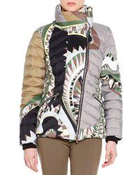 Emilio Pucci - Natural Printed Asymmetric-zip Puffer Jacket - Lyst
