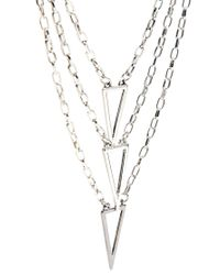 ASOS - Metallic Multi Chain Necklace for Men - Lyst