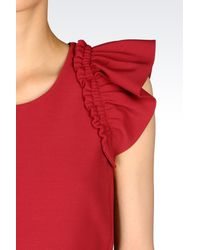 Emporio Armani | Red Sleeveless Top | Lyst