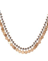 Sia Taylor | Metallic Oxisidised Silver and Rose Gold Tiny Dot Necklace | Lyst
