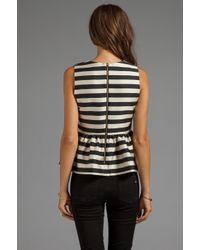 Dolce Vita | Lysia Silky Stripes Top in Black | Lyst