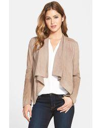 Lamarque | Brown Drape Front Suede Jacket | Lyst
