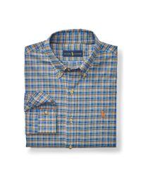 Polo Ralph Lauren - Blue Plaid Cotton Twill Shirt for Men - Lyst