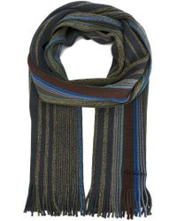 Paul Smith | Green Striped Scarf for Men | Lyst