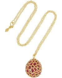 Pippa Small | Metallic 18karat Gold Ruby Necklace | Lyst