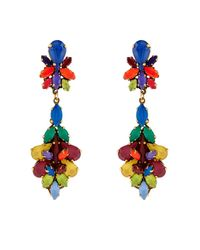 Erickson Beamon | Metallic Splash Gold-Plated Crystal Earrings | Lyst