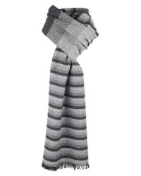 Dents | Gray Mens Striped Scarf for Men | Lyst