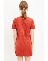 Forever 21 - Orange Fringed Faux Suede Dress - Lyst