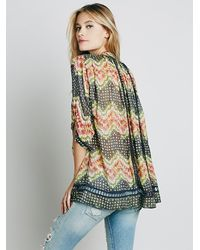 Free People | Multicolor Lost in Plaid Button Down | Lyst