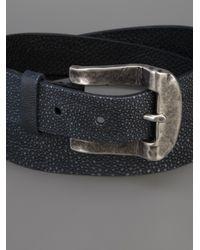 Scunzani Ivo   Blue Stingray Metal Buckle Belt   Lyst