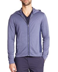 Saks Fifth Avenue | Purple Zip-front Hoodie for Men | Lyst