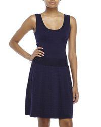 Sandro | Blue Rigolade Fit & Flare Dress | Lyst