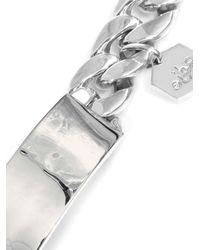 Ann Dexter-Jones | Metallic Sterling Silver Id Bracelet | Lyst