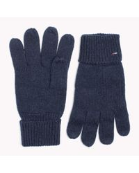 Tommy Hilfiger | Blue Wool Blend Gloves | Lyst