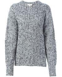 MICHAEL Michael Kors - Black Marled Chunky Knit Sweater - Lyst