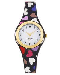 kate spade new york - Black Ladies Rumsey Heart Print Watch - Lyst