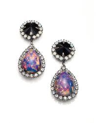 DANNIJO - Multicolor Noir Monaco Crystal & Cabochon Drop Earrings - Lyst
