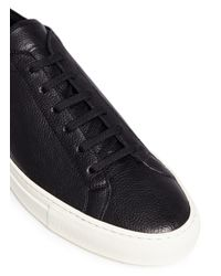 Common Projects | Black 'original Achilles' Nubuck Leather Sneakers for Men | Lyst