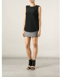 Thakoon Addition - Black Dipped Hem Top - Lyst