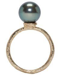 Pearls Before Swine - Metallic Yellow Gold Tahitian Pearl Ring - Lyst