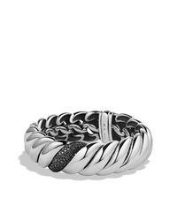 David Yurman - Metallic Hampton Cable Narrow Bracelet With Diamonds - Lyst
