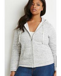Forever 21 - Gray Heathered Drawstring Sweatshirt - Lyst