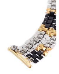 Ela Stone - Multicolor 'freja' Pyramid Chain Bracelet - Lyst