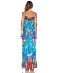 Camilla - Blue Shoestring Strap Jumpsuit - Lyst