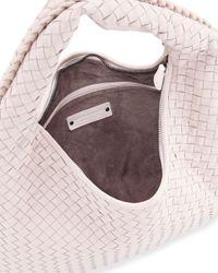 Bottega Veneta - Pink Veneta Intrecciato Large Hobo Bag - Lyst
