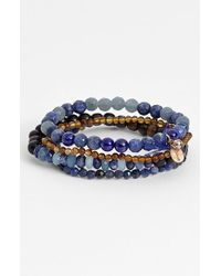 Chan Luu | Blue Stone Stretch Bracelets | Lyst