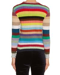 Gucci - Multicolor Rainbow-stripes Cashmere And Wool-blend Cardigan - Lyst