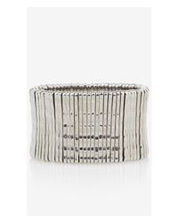 Express | Metallic Textured Metal Stretch Bracelet | Lyst