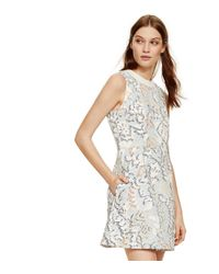 Tory Burch | Multicolor Stretch Jacquard Fit-and-flare Dress | Lyst