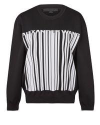 Alexander Wang | Black Barcode Logo Jacquard Knit Sweatshirt | Lyst
