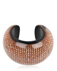 Nicholas King - Metallic Diamante Bracelet - Lyst
