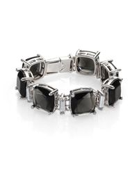 ABS By Allen Schwartz | Black Charmed Recolor Cushion Bracelet | Lyst