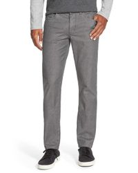 VINCE | Black 'soho' Slim Fit Melange Twill Pants for Men | Lyst