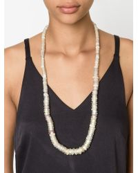 Dosa - Natural 'moon Glow' Bead Necklace - Lyst