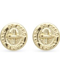 Marc By Marc Jacobs | Metallic Turnlock Stud Earrings - For Women | Lyst