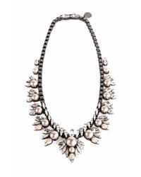 Ellen Conde | Natural Powder Pink Pearl And Crystal Sr1 Necklace | Lyst