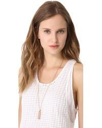 Marc By Marc Jacobs - Pink Trompe L'Oeil Toggles & Turnlocks Id Tag Necklace - Rose Gold - Lyst