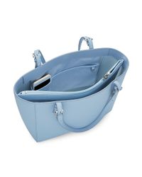 Tory Burch - Blue York Small Buckle Tote - Lyst