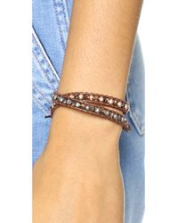 Chan Luu - Pink Beaded Wrap Bracelet - Rose Gold/tamba - Lyst