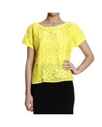 Pinko | Yellow Top | Lyst