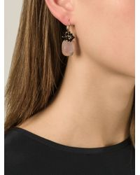 Isabel Marant - Pink Square Stone Earrings - Lyst