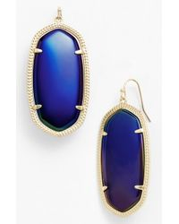 Kendra Scott | Black 'danielle - Large' Oval Statement Earrings | Lyst