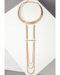 Forever 21 | Metallic Layered-chain Choker | Lyst