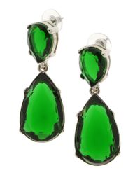 Kenneth Jay Lane - Green Embellished Earrings - Lyst